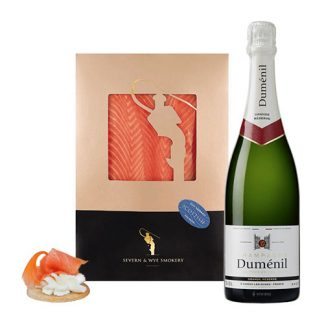 Our Champagne and Smoked Salmon Selection isis the perfect gift