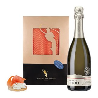 Organic Prosecco and Smoked Salmon Selection makes the perfect gift