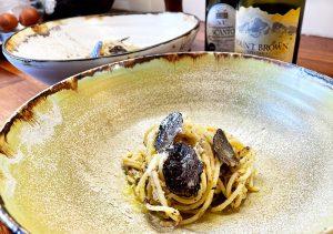Fettuccine and Black Truffle Sauce