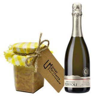 Organic Prosecco with Foie Gras Pâté with Yuzu and Mirin, 250g - Limited Edition