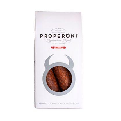 Two Properoni Hot Paprika Sausages