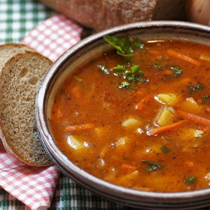 Warming Bowl of Goulash Soup